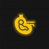 Baby žlutá zářící neonová ikona