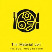 Snídaně minimální jasně žlutý materiál ikona