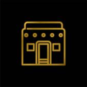 Afrikai aranyozott fém ikon vagy logó vektor