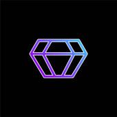 Big Diamond kék gradiens vektor ikon