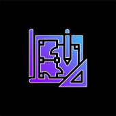 Blueprint blue gradient vector icon