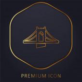 Híd arany vonal prémium logó vagy ikon