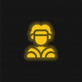 Aboriginális sárga izzó neon ikon
