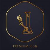 Bong goldene Linie Premium-Logo oder Symbol