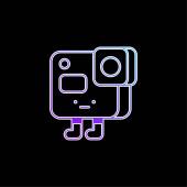 Vektorová ikona modrého přechodu fotoaparátu