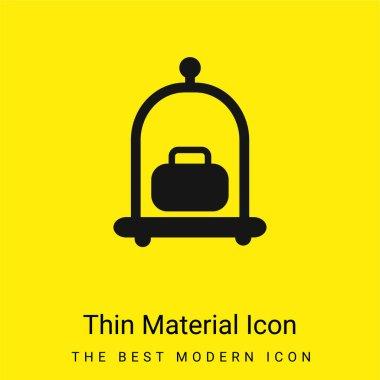 Baggage Cart minimal bright yellow material icon