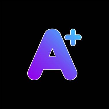 A+ Mark blue gradient vector icon stock vector