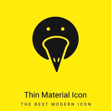 Bird Portrait minimal bright yellow material icon stock vector