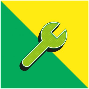 Adjust Green and yellow modern 3d vector icon logo stock vector