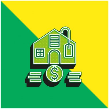 Affordable Green and yellow modern 3d vector icon logo stock vector
