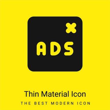 Blocked minimal bright yellow material icon