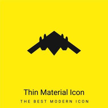 Airplane Black Silhouette minimal bright yellow material icon