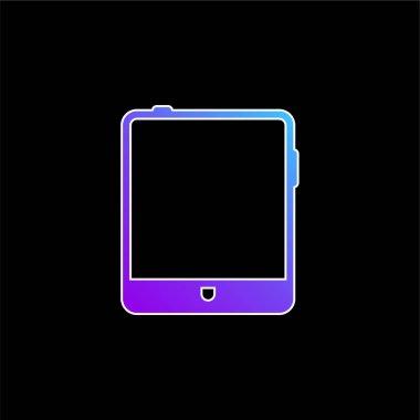Big Tablet blue gradient vector icon stock vector