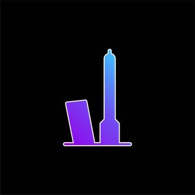 Bologna blue gradient vector icon stock vector