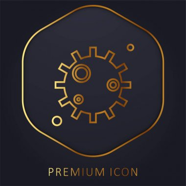 Bacteria golden line premium logo or icon stock vector