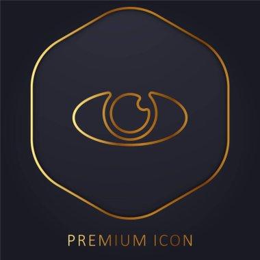 Big Eye golden line premium logo or icon stock vector