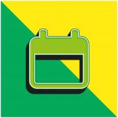Agenda Zelené a žluté moderní 3D vektorové logo
