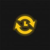 Analyze yellow glowing neon icon