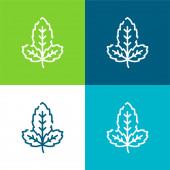Bazalka Byt čtyři barvy minimální ikona nastavena