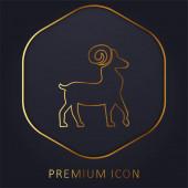 Aries Symbol zlaté čáry prémie logo nebo ikona