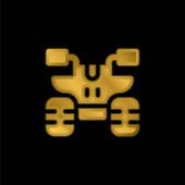 Pozlacená kovová ikona nebo vektor loga