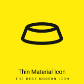 Mísa minimální jasně žlutý materiál ikona