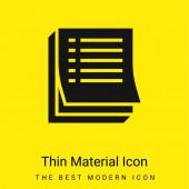 Agenda minimální jasně žlutý materiál ikona