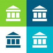 Bankovní byt čtyři barvy minimální ikona nastavena