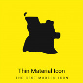 Angola minimální jasně žlutý materiál ikona