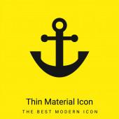 Ukotvit minimální jasně žlutou ikonu materiálu