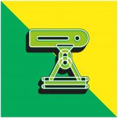 Paprsek Zelené a žluté moderní 3D vektorové logo