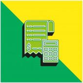 Bill Green a žluté moderní 3D vektorové logo