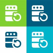 Backup flache vier Farben minimalen Symbolsatz