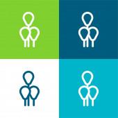 Balónky Byt čtyři barvy minimální ikona nastavena