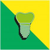 Artificial Green and yellow modern 3d vector icon logo