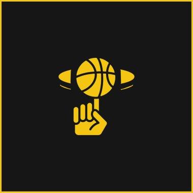 Ball yellow glowing neon icon stock vector