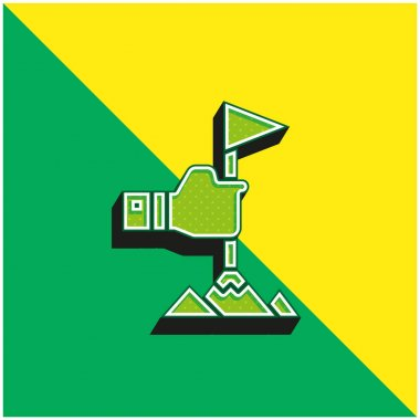 Achievement Green and yellow modern 3d vector icon logo stock vector