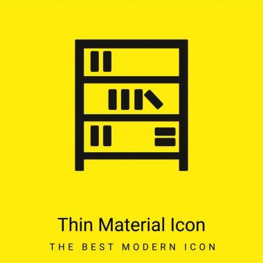 Book Shelves minimal bright yellow material icon stock vector