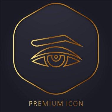 Appearance golden line premium logo or icon stock vector