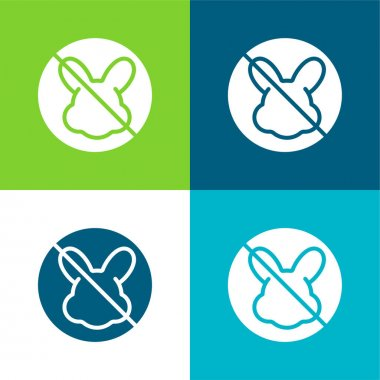 Animal Cruelty Flat four color minimal icon set