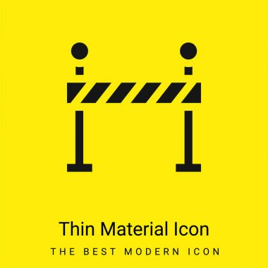Barrier minimal bright yellow material icon stock vector