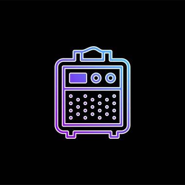 Amplifier blue gradient vector icon stock vector