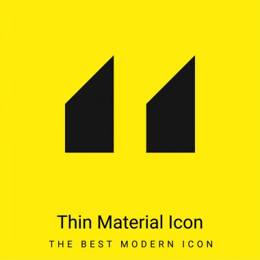 Blocks With Angled Cuts minimal bright yellow material icon