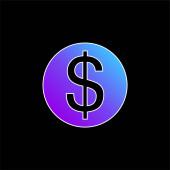 Nagy dollár érme kék gradiens vektor ikon