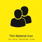 2 Uživatelé minimální jasně žlutá ikona materiálu