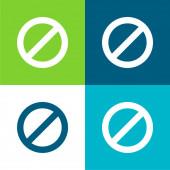 Ban Flat vier Farben minimalen Symbolsatz