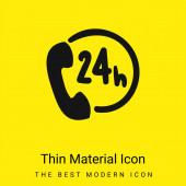 24 Stunden minimales leuchtend gelbes Materialsymbol