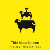 Tiere minimales leuchtend gelbes Materialsymbol