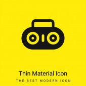 Boombox minimális fényes sárga anyag ikon