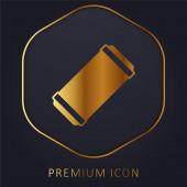 Air Filter golden line premium logo or icon